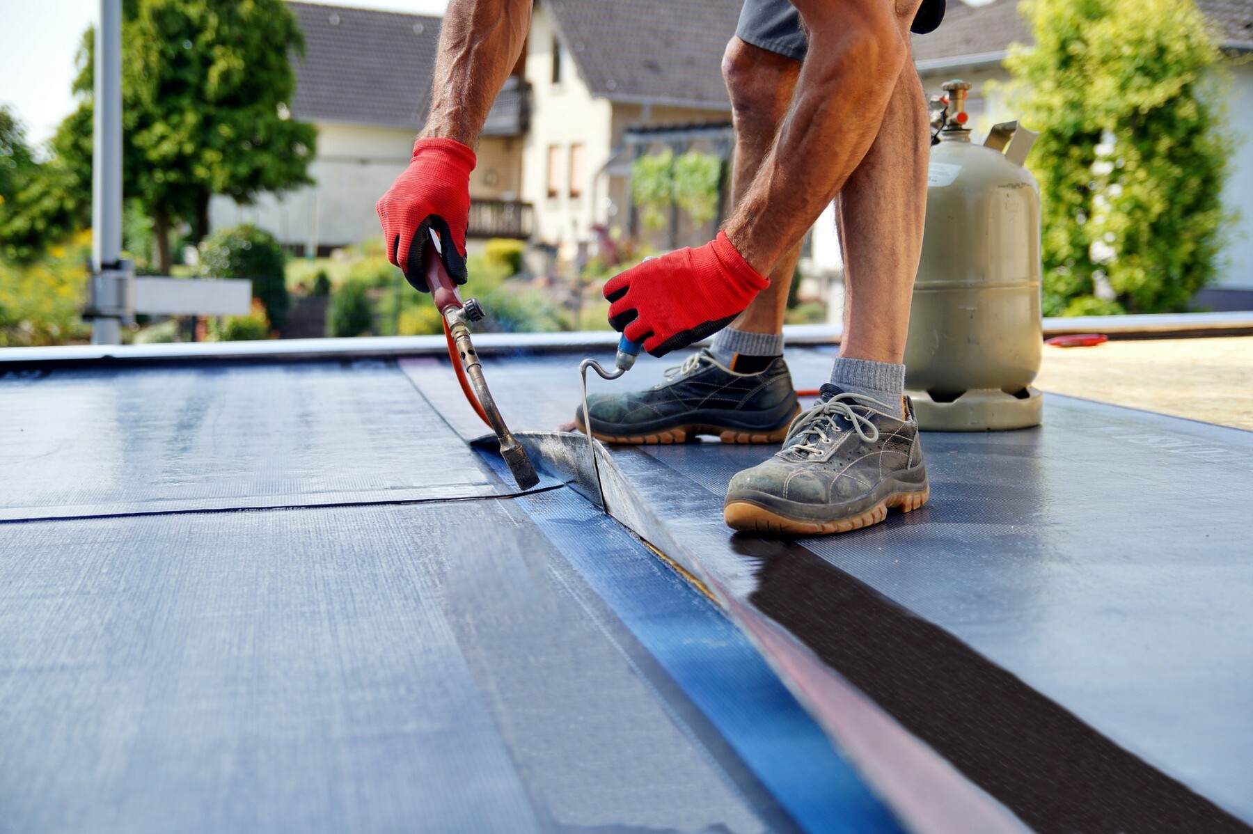 Flat Roof Installation By Eastern Seaboard Roofing Inc